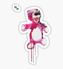 Teddy Bear Breaking Sticker
