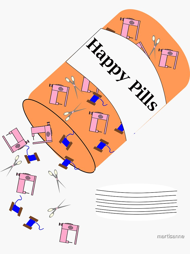 Sewing Happy Pills by martisanne