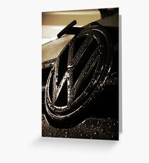 VW Badge Greeting Card