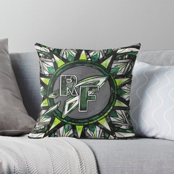 Rock Falls Rocket Mandala Design  Throw Pillow