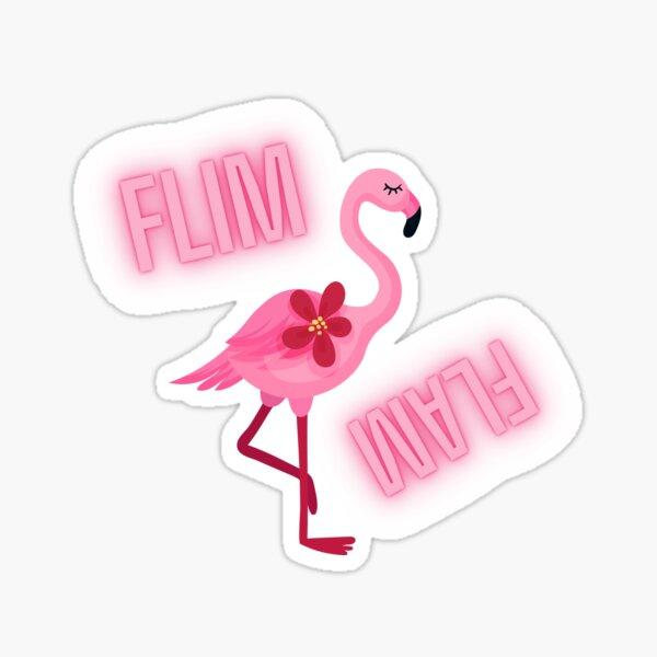 FLIM FLAM PINK FLAMINGO  Sticker