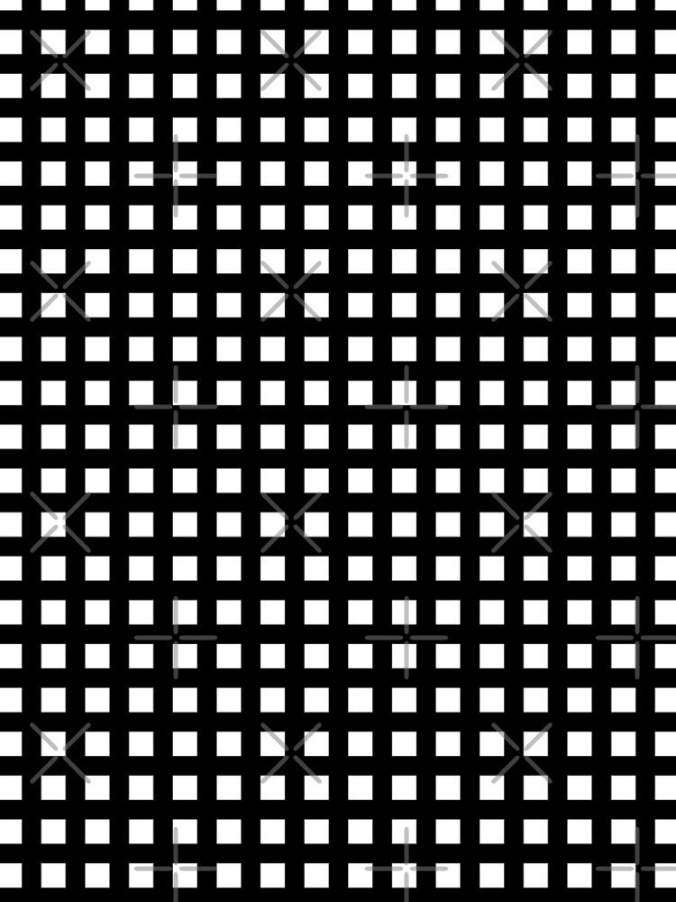 Horizontal and vertical lines. Grid stripes. Geometric pattern. Minimalism. Black and white. by EvgeniiV
