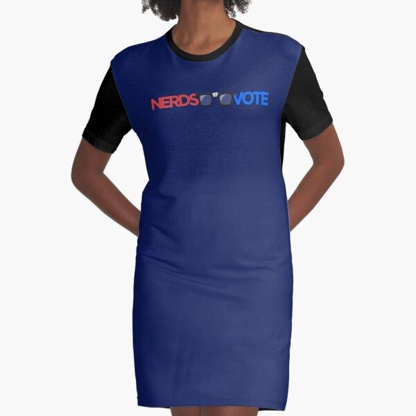 NerdsVote - horizontal nerd taped glasses logo  Graphic T-Shirt Dress