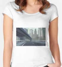 TO THE CITY Women's Fitted Scoop T-Shirt