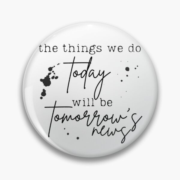 Tomorrow's News - Newsies Musical Pin