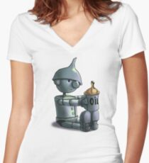 Baby Tinman Women's Fitted V-Neck T-Shirt