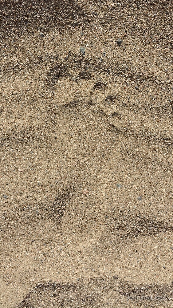 sand foot print by JenniferLisa1