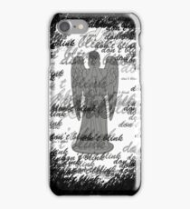 Weeping Angel -Don't Blink (scatter script) iPhone Case/Skin