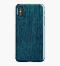 Blue fabric texture iPhone Case/Skin