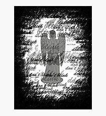 Weeping Angel -Don't Blink (scatter script) Photographic Print