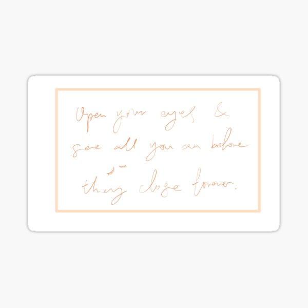 Scribbling Calligraphy Inspirational Motivational Quote Sticker