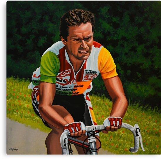 Bernard Hinault painting by PaulMeijering