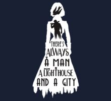 A Man, a Lighthouse and a City | Unisex T-Shirt