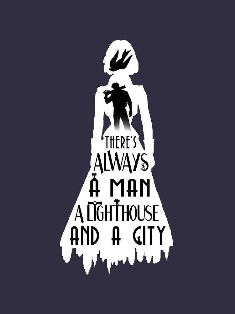 A Man, a Lighthouse and a City | Unisex T-Shirt