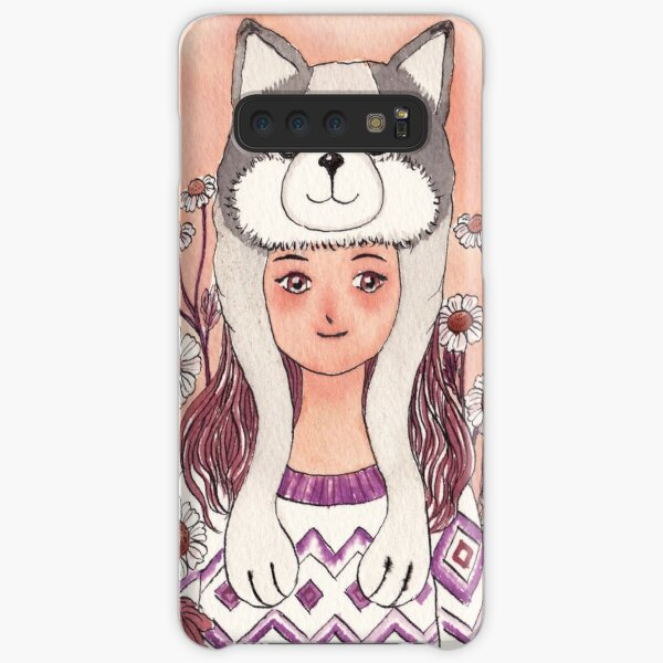 The Girl wearing a Husky hat Samsung Galaxy Snap Case