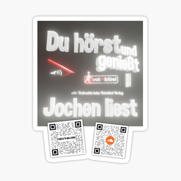 Reading service Volxbibel - You hear and enjoy - Jochen reads Sticker