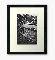 Black & White countryside Framed Print