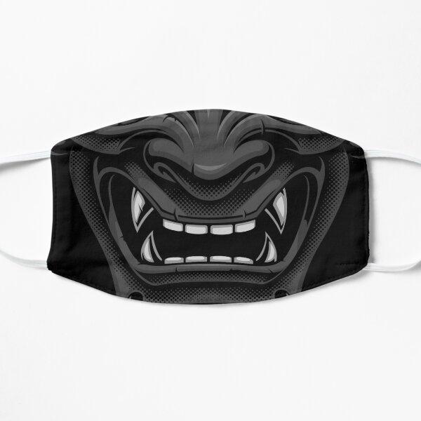 Masque de démon japonais noir Oni Masque sans plis