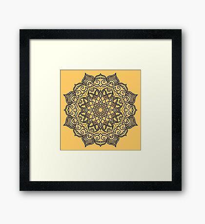 Dense Mandala Framed Print