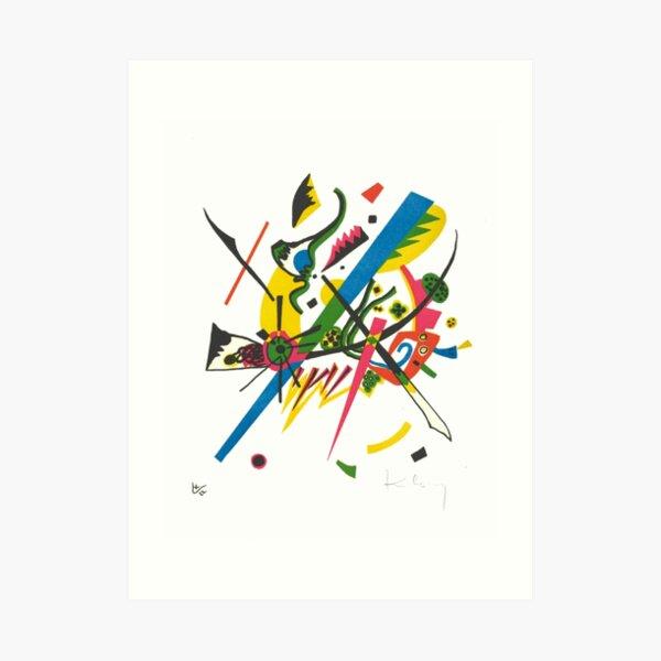 Vasily Kandinsky w/ Signature | Small Worlds I | On view at The Met Gallery 911 Art Print