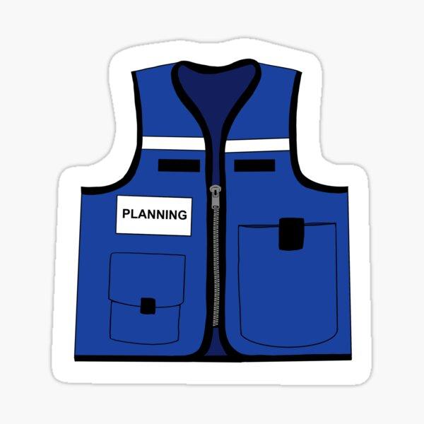 Emergency Management Planning Vest Sticker