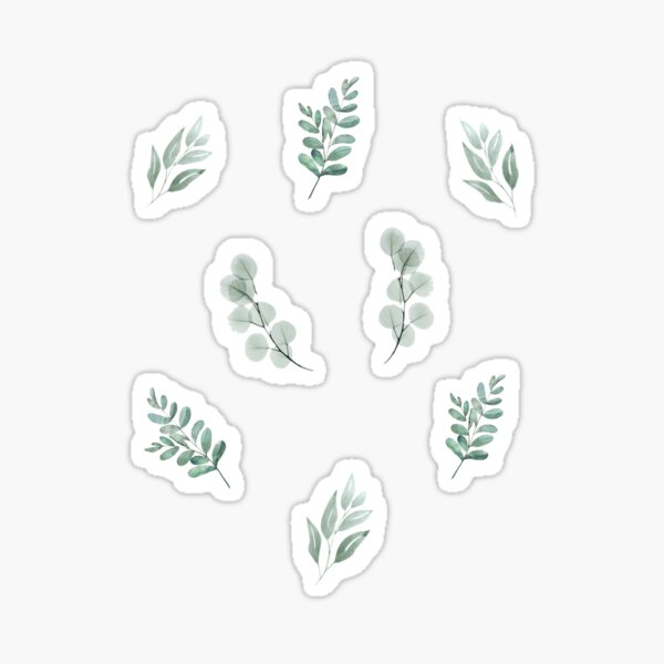 Cute Sage Green Plant set for Plant Moms Sticker