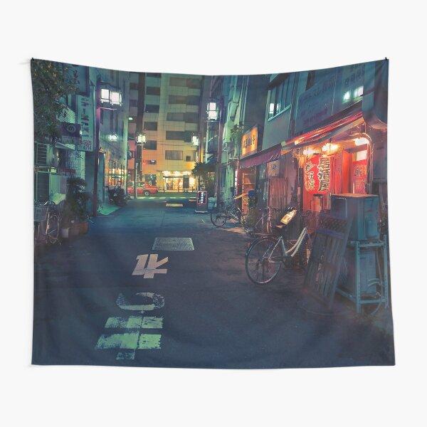 Neo Tokyo - Quiet street in Shinjuku Tapestry