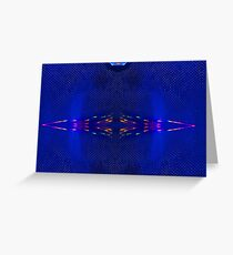 Blue Amp Refracting 11 Greeting Card