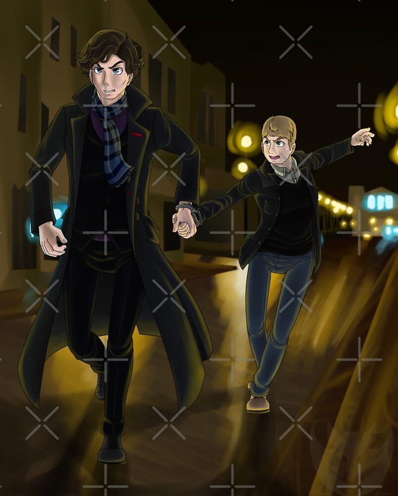 Sherlock and John by KumoriDragon