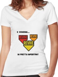 Im pretty important Women's Fitted V-Neck T-Shirt