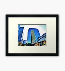 Downtown Plaza Framed Print