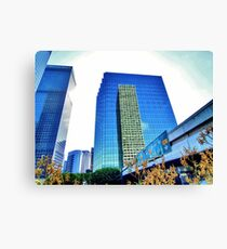 Downtown Plaza Canvas Print