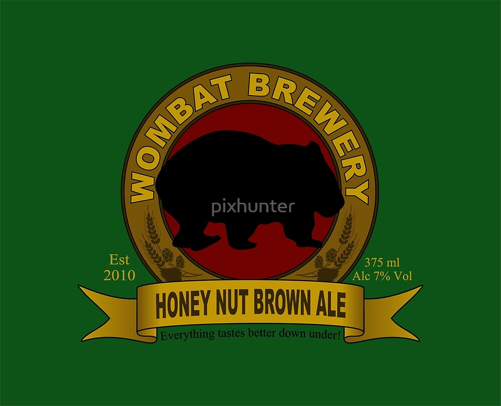 Wombat Brewery: Honey Nut Brown Ale by pixhunter