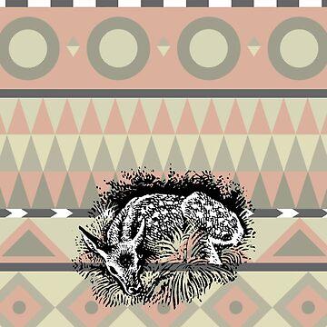 Aztec Deer by fourblackbirds