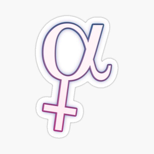 Alpha female Sticker