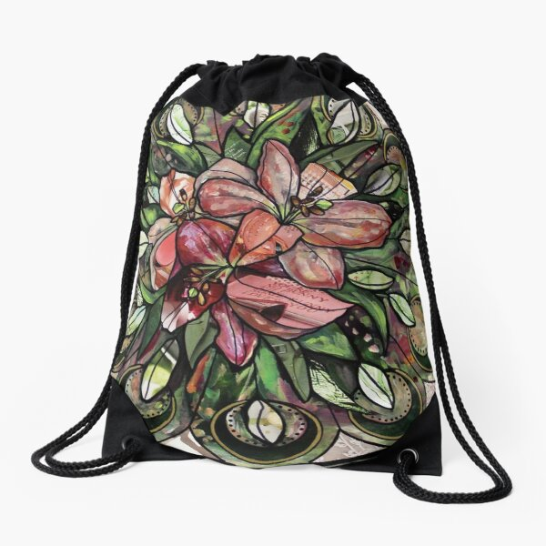 Conception de mandala floral Lilly Sac à cordon