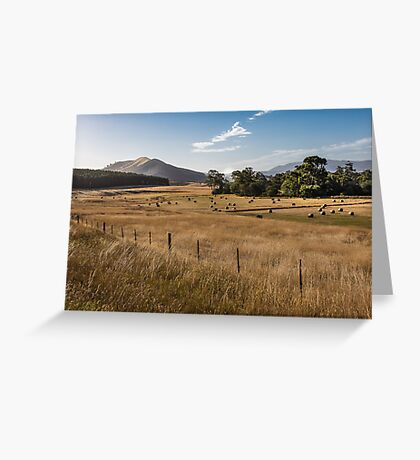 Golden Evening Glow,Strath Creek Greeting Card