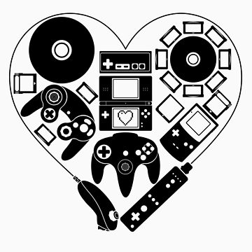 Nintendo Love (Black) by missarrowette