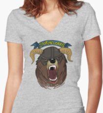 The Stormcloaks V.2 Women's Fitted V-Neck T-Shirt