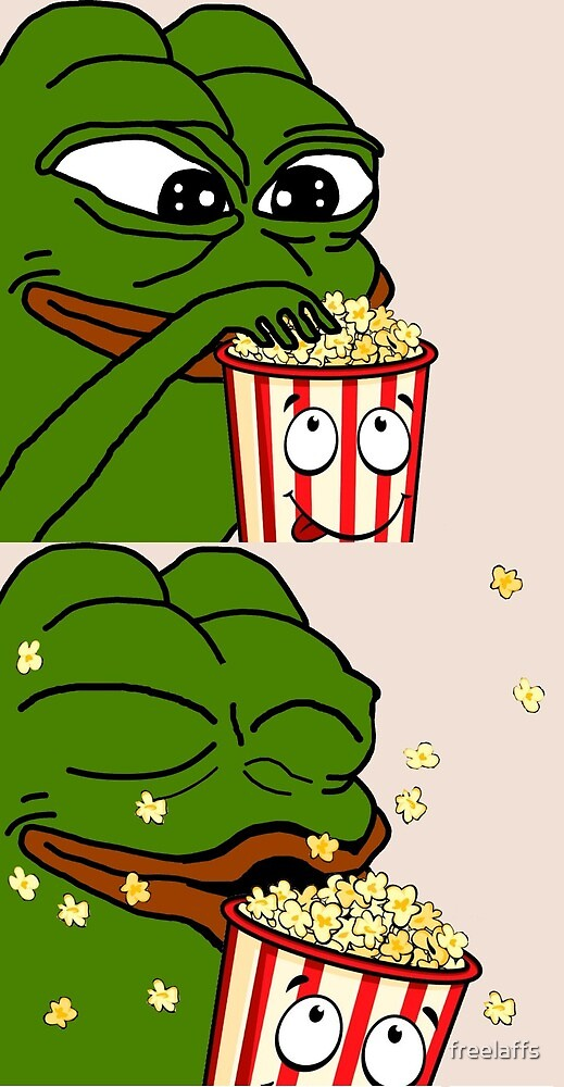 Quot Pepe The Smug Frog Popcorn Quot By Freelaffs Redbubble