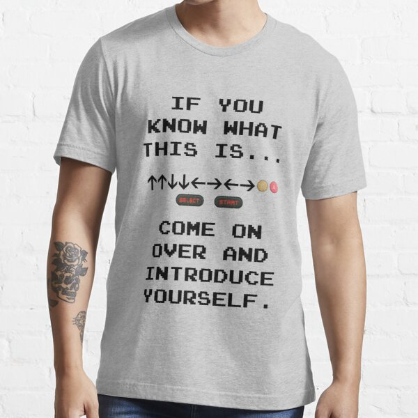 Konami Code T-shirt essentiel