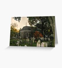 Old Dutch Reformed Church and Burial Ground, Sleepy Hollow, NY Greeting Card