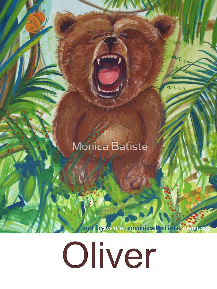 Oliver Bear roaring like a lion by Monica Batiste