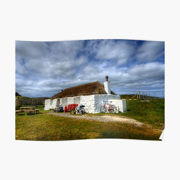 NORTH UIST CROFT HOUSE MALACLEIT WESTERN ISLES SCOTLAND MOUNTED PHOTO CARD