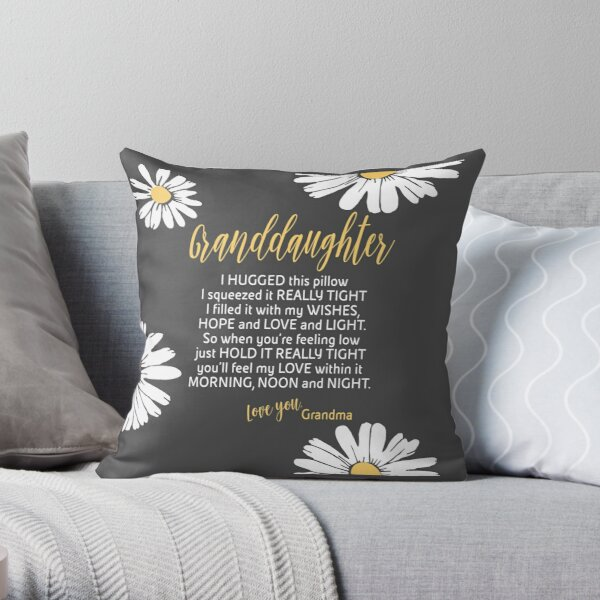 Granddaughter - Grey Granddaughter Pillow - Granddaughter White Daisies Throw Pillow