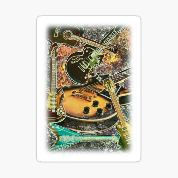 Play the Guitar! Sticker