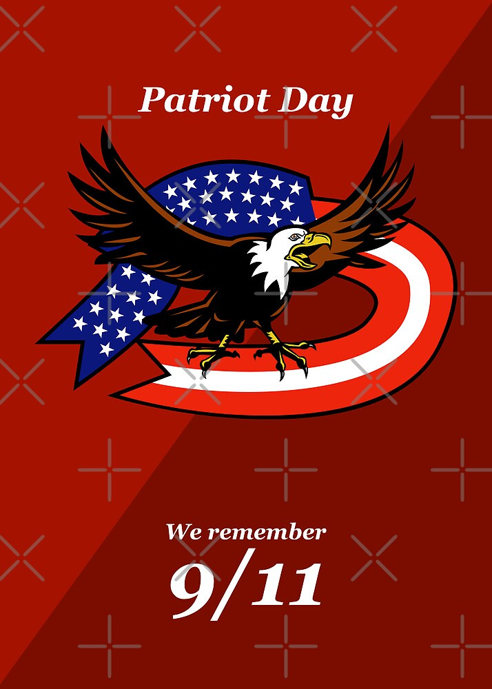 Patriot Day We Remember 911 Poster Card by patrimonio