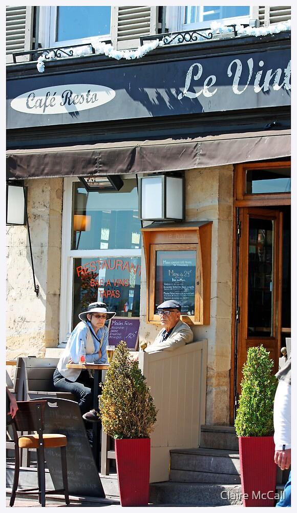 Mont Martre Cafe, Paris by Claire McCall