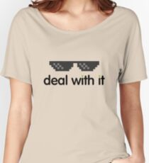 deal with it (black text) Women's Relaxed Fit T-Shirt