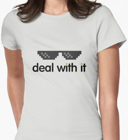 deal with it (black text) T-Shirt
